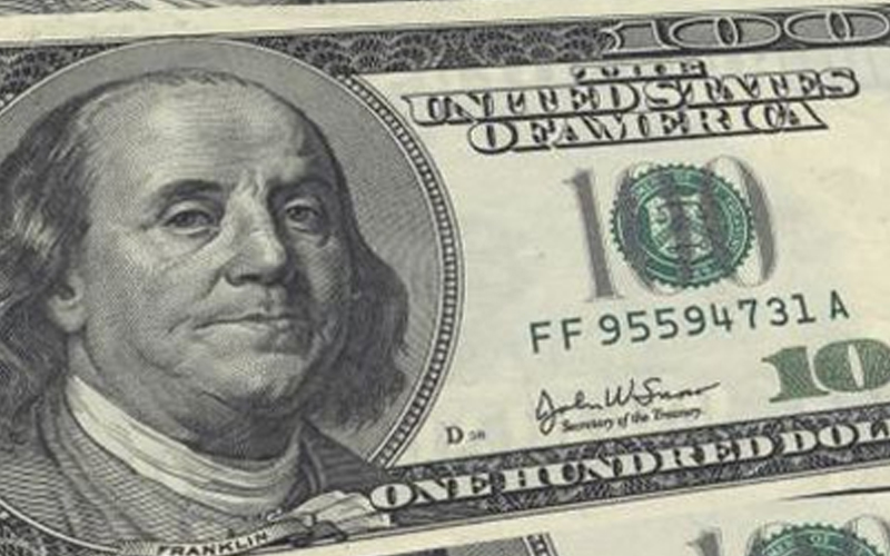 Close-up of a One Hundred Dollar Bill